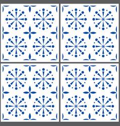 portuguese tile pattern lisbon seamless in vector image vector image