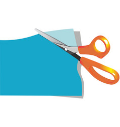 Scissors cut paper vector