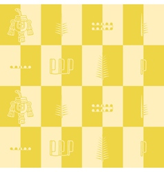 Seamless pattern with aztec number symbols vector