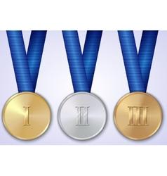 Set of sportive award medals vector