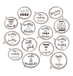 speech bubbles with motivation quotes vector image vector image