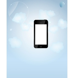 template for smart phone and mobile phone company vector image vector image