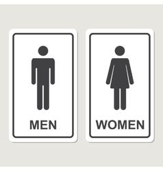 Toilet icon vector image vector image
