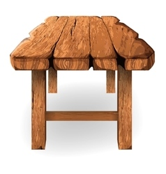 wooden table on a white background vector image vector image