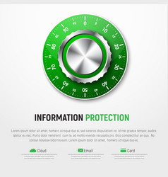 Template of white banner with green mechanical vector