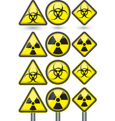 Radiation sign radiation symbol set vector