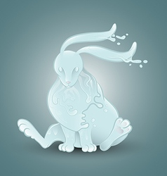 Water rabbit vector