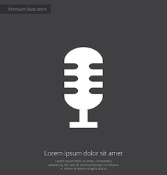 Microphone premium icon vector