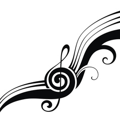 The symbols of music vector