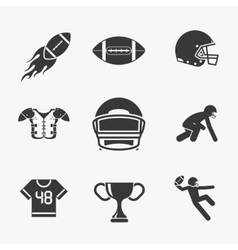 Rugby and american football icons vector