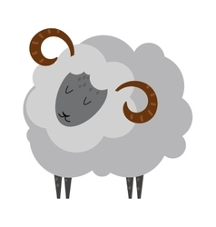 Smiling sheep cartoon animal lamb mammal vector