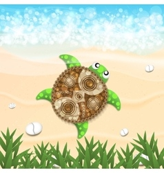 Beautiful turtle vector