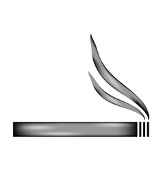 Cigarette sign icon vector