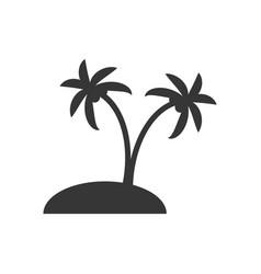 Desert island silhouette vector