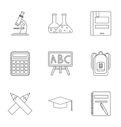 Education icons set outline style vector image vector image
