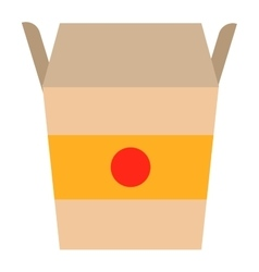 Fast food noodles box vector image vector image