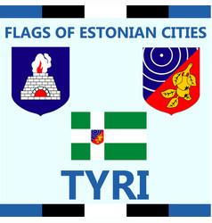 Flag of estonian city tyri vector