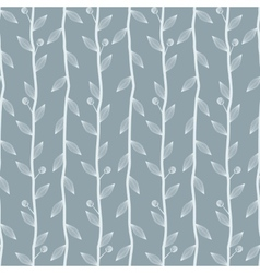 Floral seamless background with branches vector