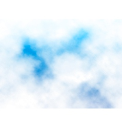 Fluffy cloud detail vector image