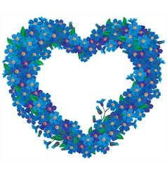 Forget me not flower heart vector image vector image