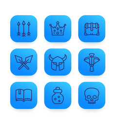 game line icons set 2 vector image vector image