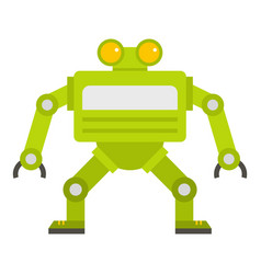 Green automatic mechanism icon isolated vector