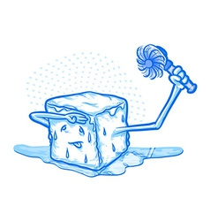 hot ice vector image vector image