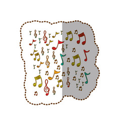 Instruments music notes background icon vector