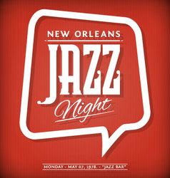 Jazz label vector
