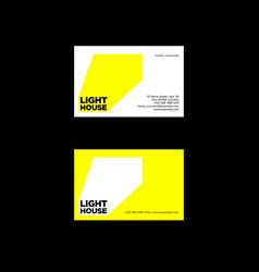 lighthouse box logo ray light emblem vector image