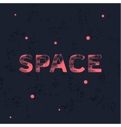 Logo space with trend vintage style scratched flat vector
