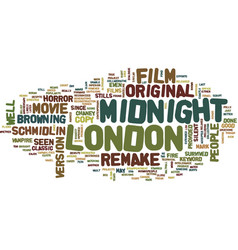 London after midnight text background word cloud vector