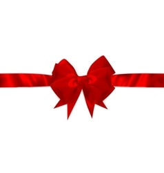 Red gift bow and ribbon EPS 10 vector image vector image