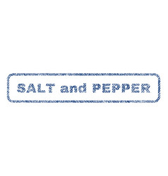 salt and pepper textile stamp vector image