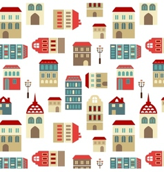 seamless city pattern vector image vector image