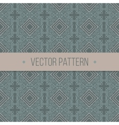 Seamless geometrical vintage pattern vector image vector image