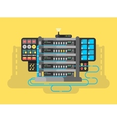 Server design flat vector image