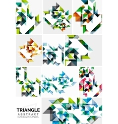 Set of colorful modern triangle pattern vector image