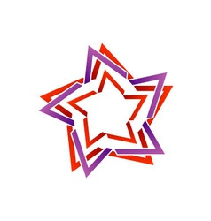 Stylized star design element vector