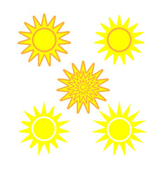 Sun sign set 1304 vector