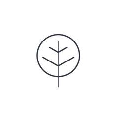 Tree thin line icon linear symbol vector