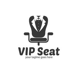 Vip seat logo vector