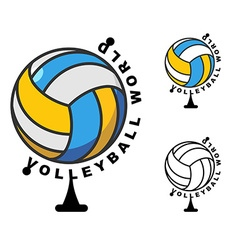 World volleyball globe ball game sports accessory vector