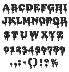 Petroleum alphabet isolated on white background vector image
