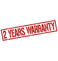 2 years warranty stamp vector