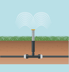Water irrigation automatic sprinklers system vector