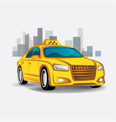 Taxi icon stylized symbol vector