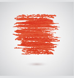 Abstract background with red paint brush strokes vector