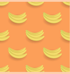 Fresh yellow bananes seamless pattern vector