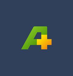 letter a cross plus logo icon design template vector image